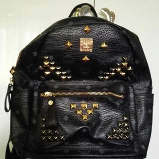 MCM Studded Leather Backpack