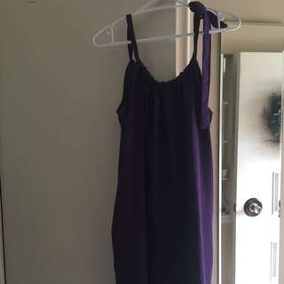 Purple Tie Up Dress