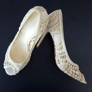 White Lace Charles & Keith Shoes