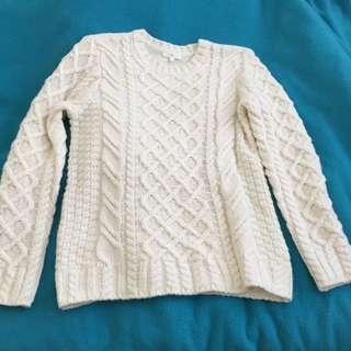 Cream Knit Jumper Size M