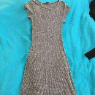 Midi Dress In Knit, Size 8
