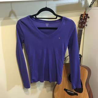 Purple Tommy Hilfiger Long Sleeve
