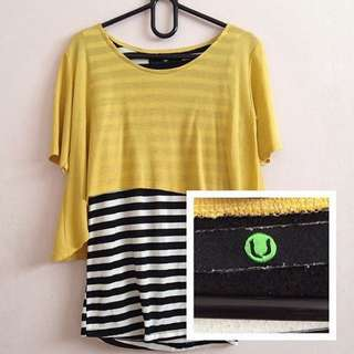 Yellow BnW Top