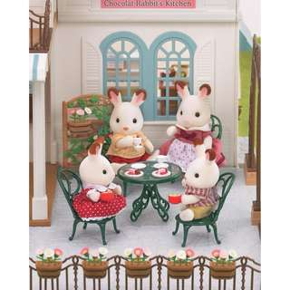 Sylvanian Families Ornate Table And Chairs