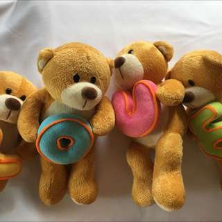 4 Pieces Bears With Alphabet LOVE
