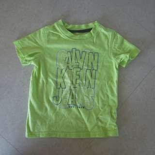 Calvin Klein 2T 上衣 t-shirt baby kids toddler 正品 CK 二手