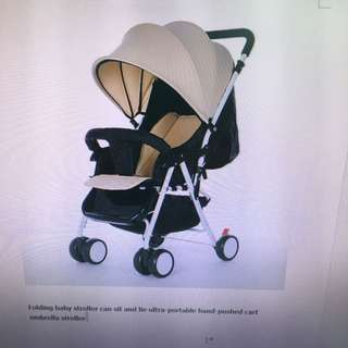 Light Weight Stroller - 4.5kg (new) Color: Khaki