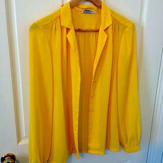 Sunshine Yellow Vintage Blouse ☀️