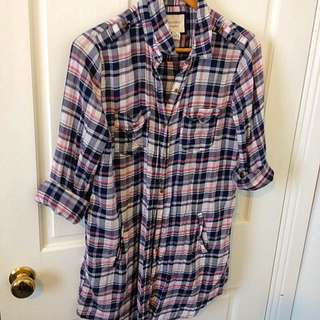 Forever 21 Flannelette Shirt Dress