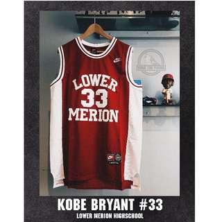 Kobe Bryant # 33 Lower Merion High School Jersey Swingman Jersey NBA