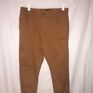 ASOS Tan Brown High Waisted Jeans BNWT 12