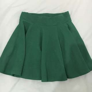 Forest Green Circle Skirt