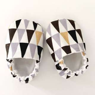 Geo Monochrome & Gold Soft Sole Baby Shoes