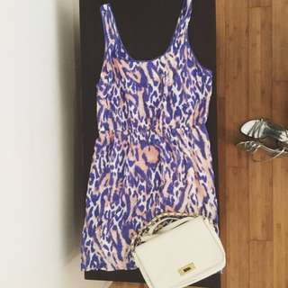XS-S Pink& Purple Jaguar Printed Dress