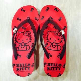Hello Kitty超軟厚底人字拖鞋