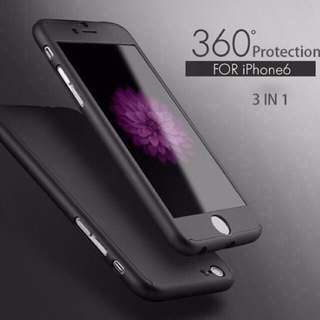 360 degrees case for iphone 6/6s/6plus/6splus! In Stock! free tempered glass