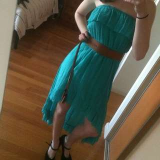 Blue High Low Dress