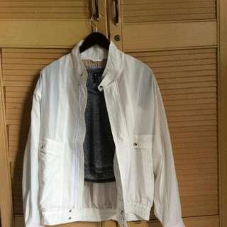 Oversize White Bomber Jacket