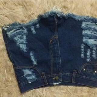 High Waisted Ripped Shorts Size 8-10