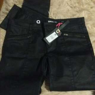 Spray On  Leather Like Jeans Size 12