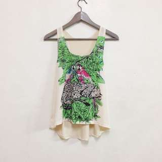 古著 動物背心 森林 美式 街頭感 運動服 Zara Topshop #轉轉來交換 #兩百元雪紡單品