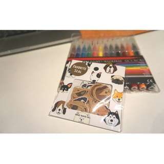 Adorable Japanese style stickers ( doggie, 70 pieces )