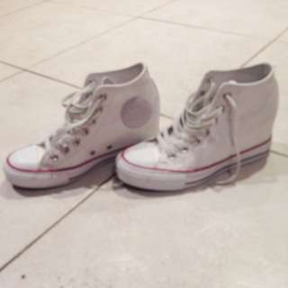 White High Top Wedge Converse