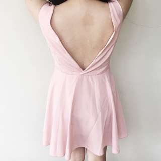 Backless Pink Dress