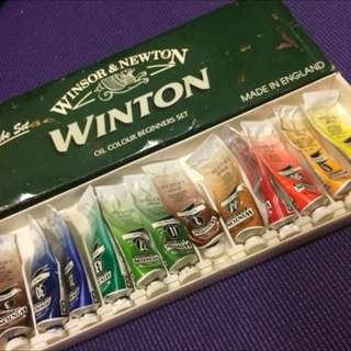 油畫顏料 Winsor&newton 12色 Winton