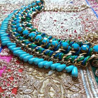 |ON HOLD| Turquoise Choker Statement Necklace
