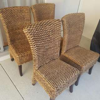 Seagrass Chairs 4x