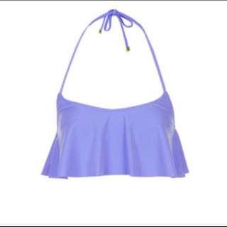 Topshop Ruffle Purple Bikini Top