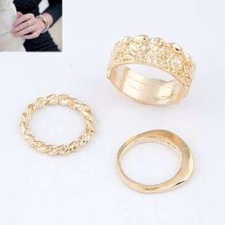 018A24rBest Seller Ring Rose Hollow Design Gold Color