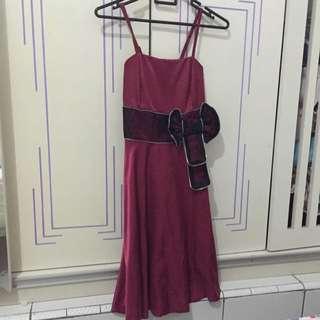 Preloved Maroon Amanda Dress