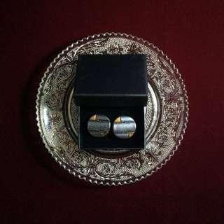復古鍍金扣耳環-幾何圓