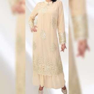 BN Cream n gold lace dress