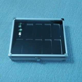 Watch Display Storage Box Case (Silver)