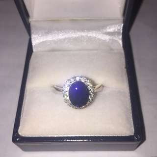 $100 Sapphire Blue Ring