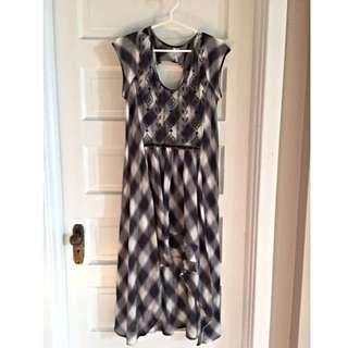 Free People Hi-Lo Plaid Dress