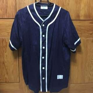 [洽中][二手]素色棒球衫 棒球上衣 復古潮流