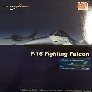 A brand new Hobby Master F16 Fighting Falcon 1/72 scale 6707, 14 TFG, 455 TFW ROCAF.