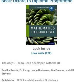 Brand New IB Maths Text Book