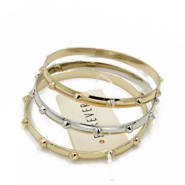歐美風格-龐克卯釘三合一手環