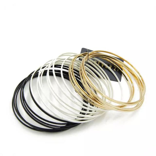 歐美風格-超多圈三色誇張手環