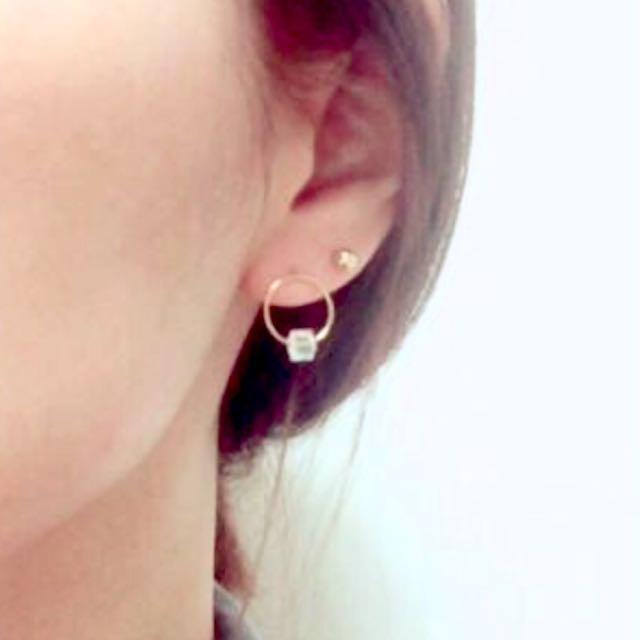 圓形水晶氣質耳環