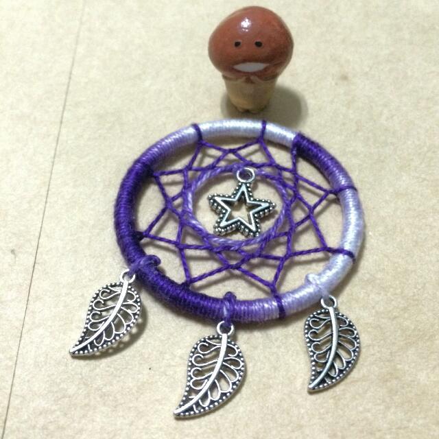 紫色星星補夢網吊飾