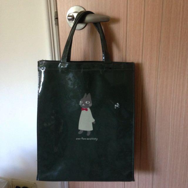 墨綠色 貓咪手提包