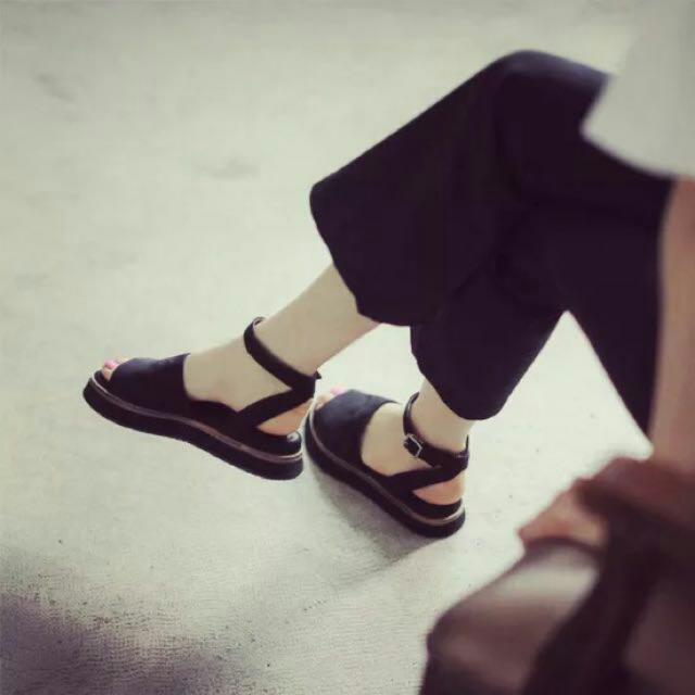 絨布 淑女鞋 涼鞋