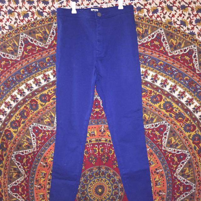 ASOS High Waisted Blue Denim Jeans BNWT