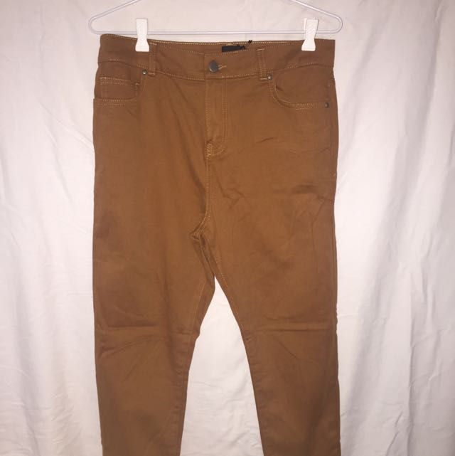 ASOS Tan Brown High Waisted Jeans BNWT 12